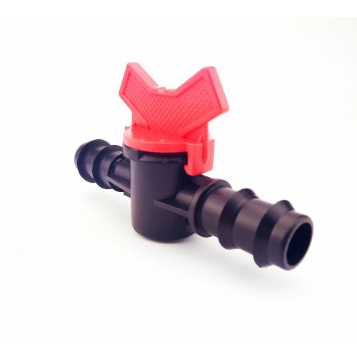 Кран соединительный проходной для трубки  20 мм