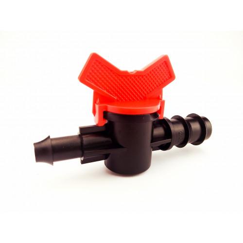 Кран стартовый с резинкой для слепой трубки d 16 мм
