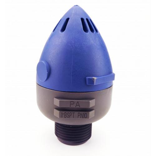 """Воздушный выпускной клапан 1"""" с верхним отводом"""
