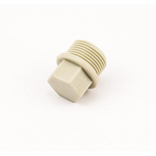 Заглушка пластиковая PP-R с наружной резьбой