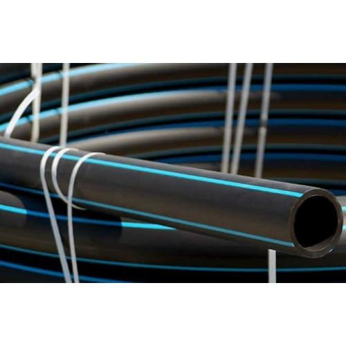 Труба ПВД черная с синей полосой (6 атм)