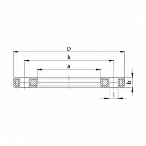 Фланец стальной с ПП покрытием ANSI 150LB