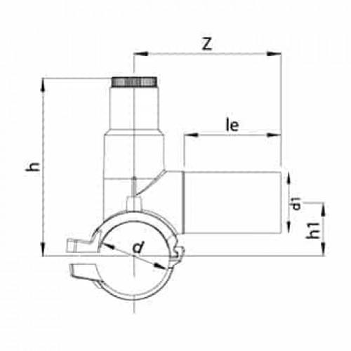 Хомут врезки Цельнолитой 40В-ПЭ100 SDR11-Только для воды 280/315-50mm