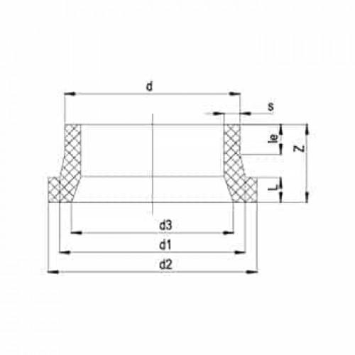 Фланцевый адаптер Удлиненный трубой  ПЭ100 SDR17 450mm (DN 500)