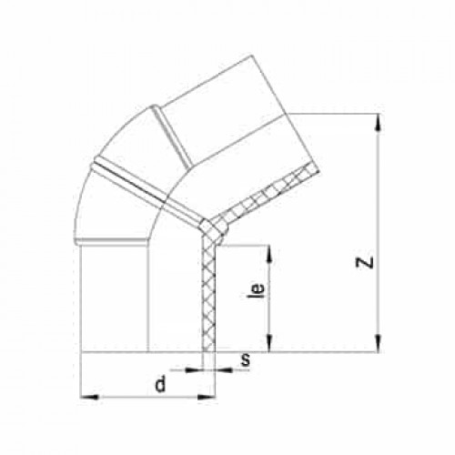 60° Колено литое ПЭ100 SDR11-Один сегмент
