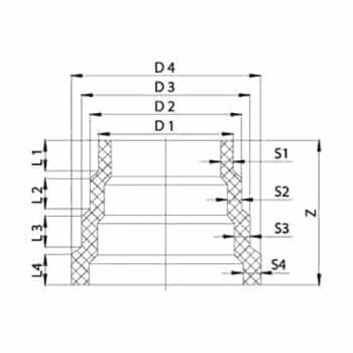 Шаговая редукция литая ПЭ100 SDR11