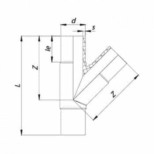 Тройник литой 45° ПЭ100 SDR11