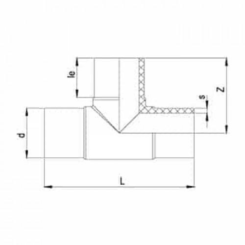 Тройник литой 90° ПЭ100 SDR17