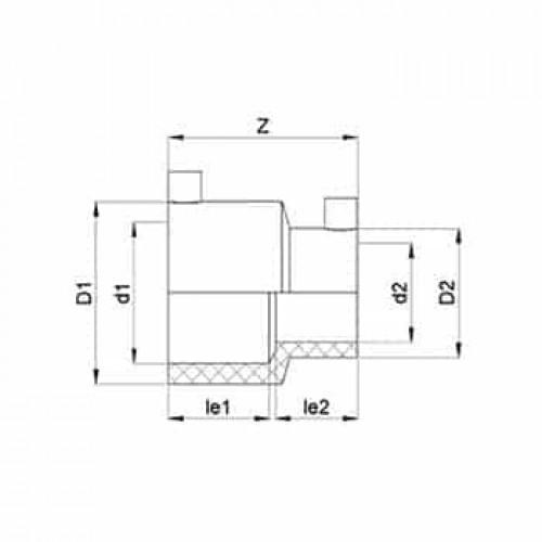 ТР Редукция 40В-ПЭ100 SDR11